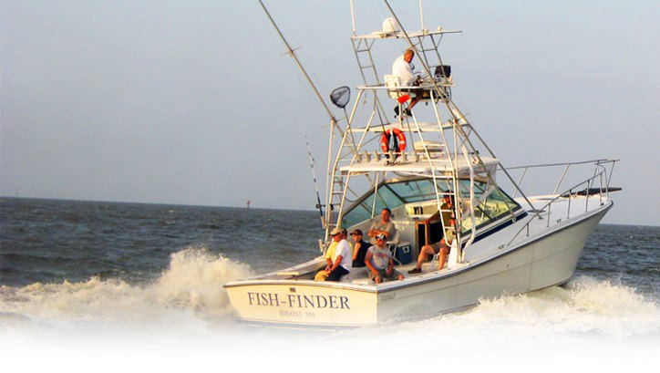 Biloxi charter fishing fish finders charters for Charter fishing trip
